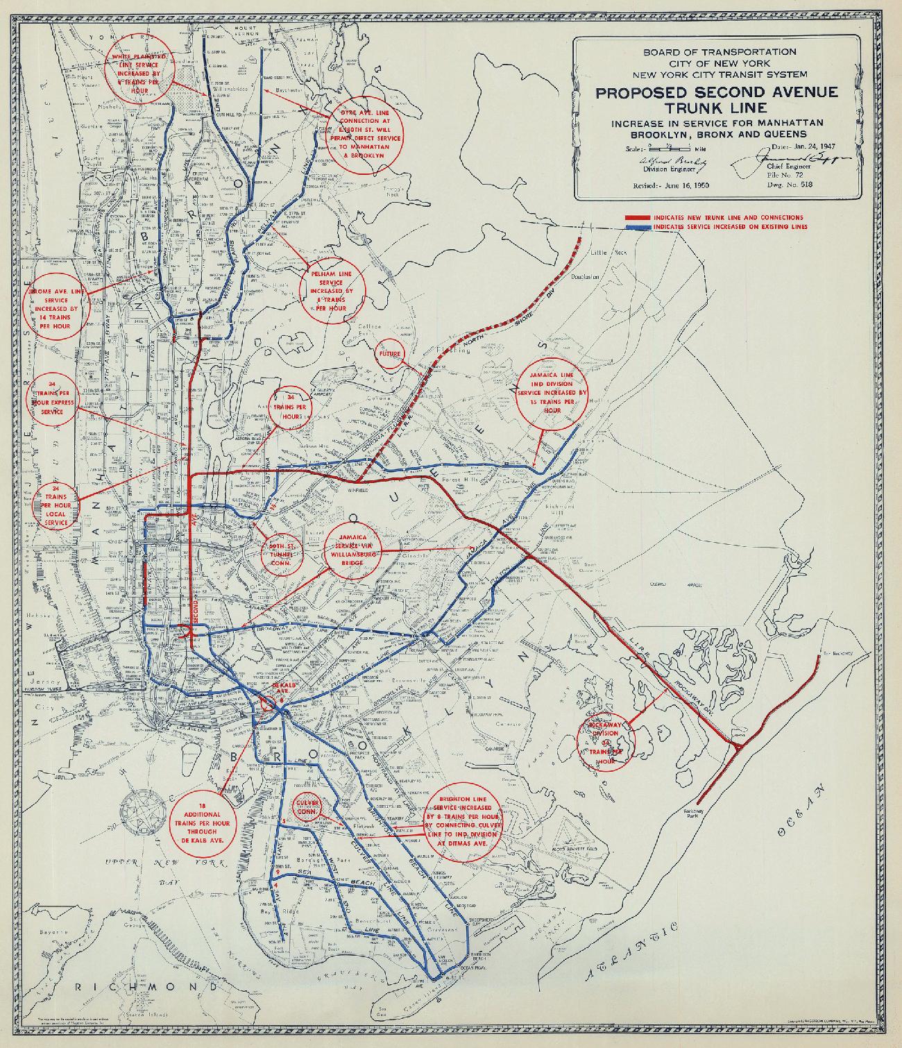 1. Proposed Second Avenue line