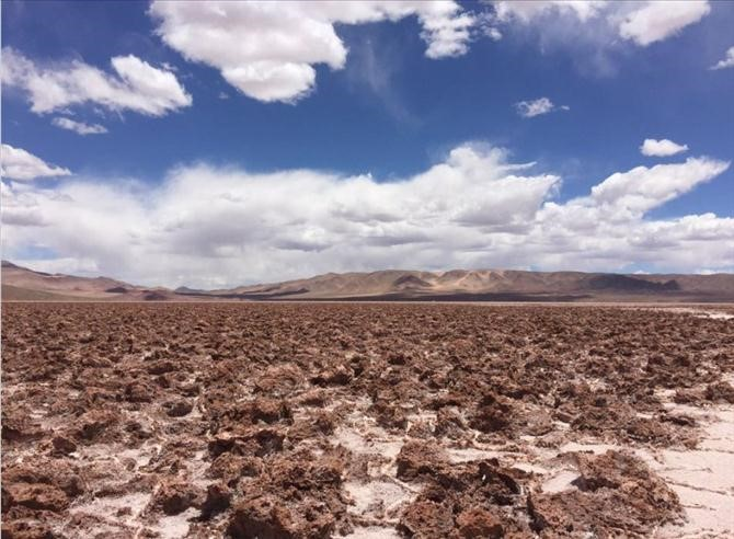 Pozuelos Salt Lake in Argentina is considered to be an optimal location to produce lithium.