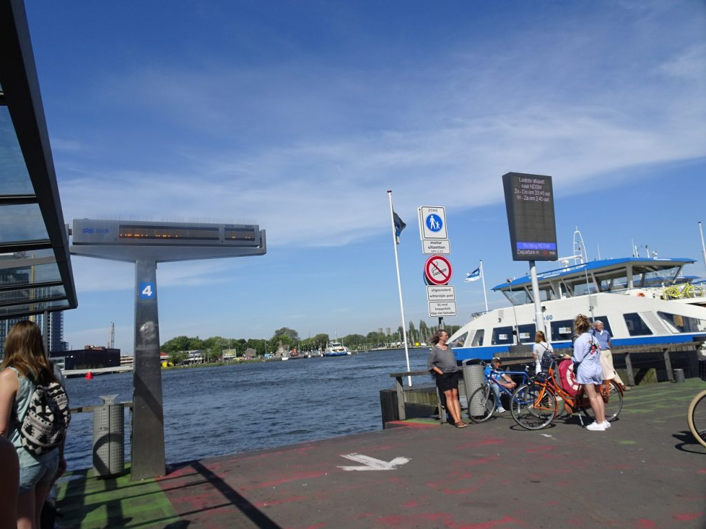 The NDSM ferry stop in Amsterdam Central.
