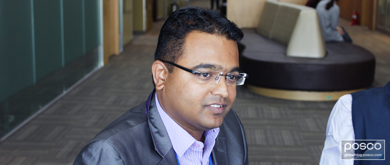 POSCO Maharashtra's Chetan Waghchoure during an interview with The Steel Wire in May 2017