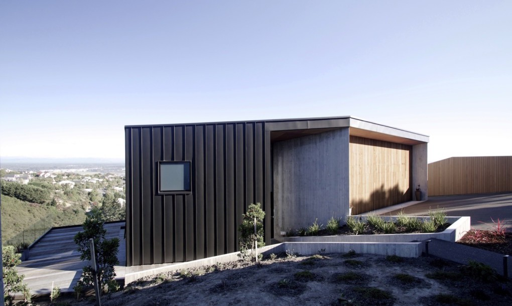 A view of The Ophir Home, built to withstand earthquakes and maximize natural light exposure.