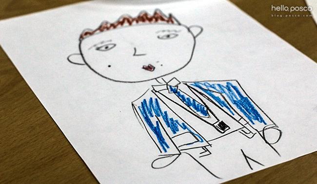 학생이 그려준 초상화