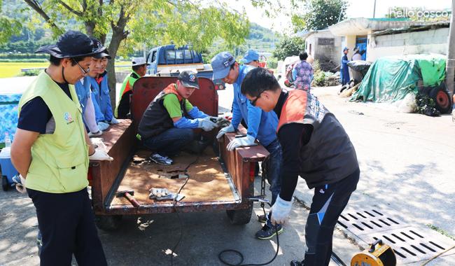 광양제철소 농기계수리 전문봉사단