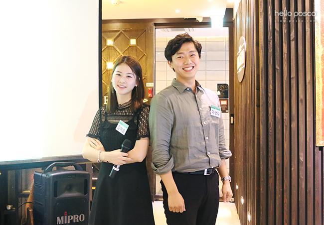이번 웰컴파티에 멘토로 참여한 김예솔 주니어매니저와 이상각 주니어매니저