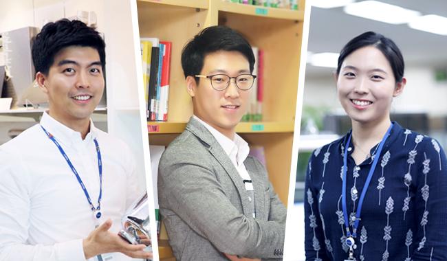 합격비결 인터뷰한 선배 3인의 모습