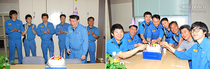 박도규 님의 A 특공대와 함께 찍은 생일 사진