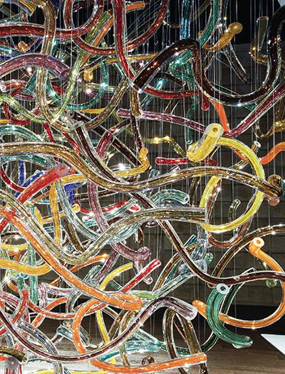상상속의 파티 Ⅲ, 유리(블로잉 기법), 300×300×300cm, 2016