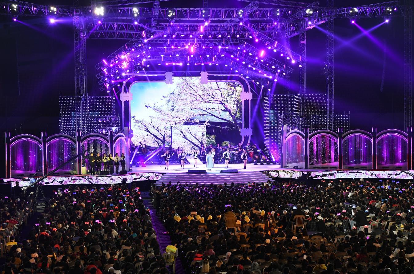 광양시민과 함께하는 KBS 열린음악회 모습이다.