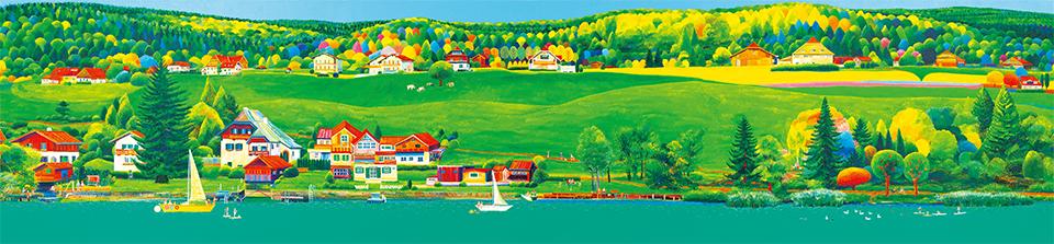 김덕기작가의 작품, 볼프강 호수의 여름