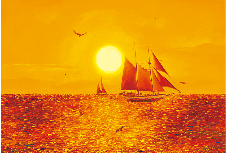 김덕기작가가 관람객에게 추천하고 싶은 작품, 플로리다 키웨스트 - 아름다운 해돋이(황금빛 아침)