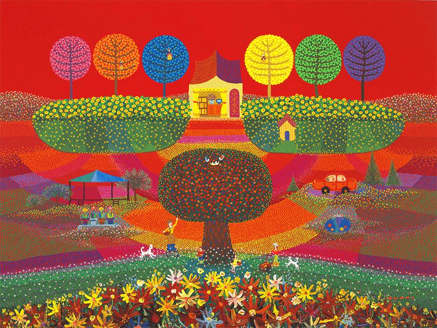 김덕기 작가의 작품, 가족 - 함께하는 시간,가을