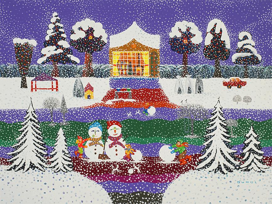 김덕기 작가의 작품, 가족 - 함께하는 시간,겨울