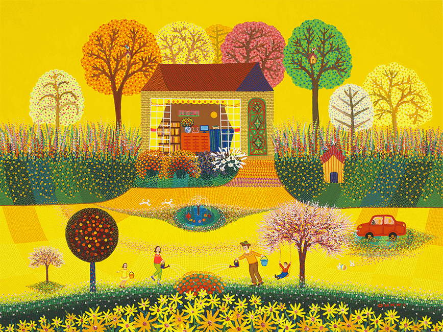 김덕기 작가의 작품, 가족 - 함께하는 시간,봄