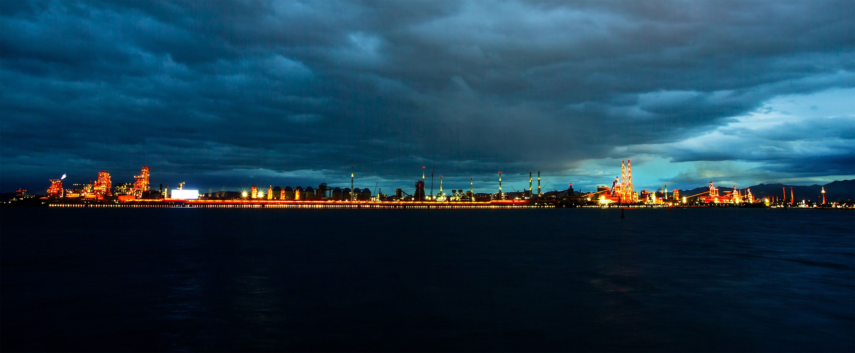 포항제철소 6km의 야간 경관