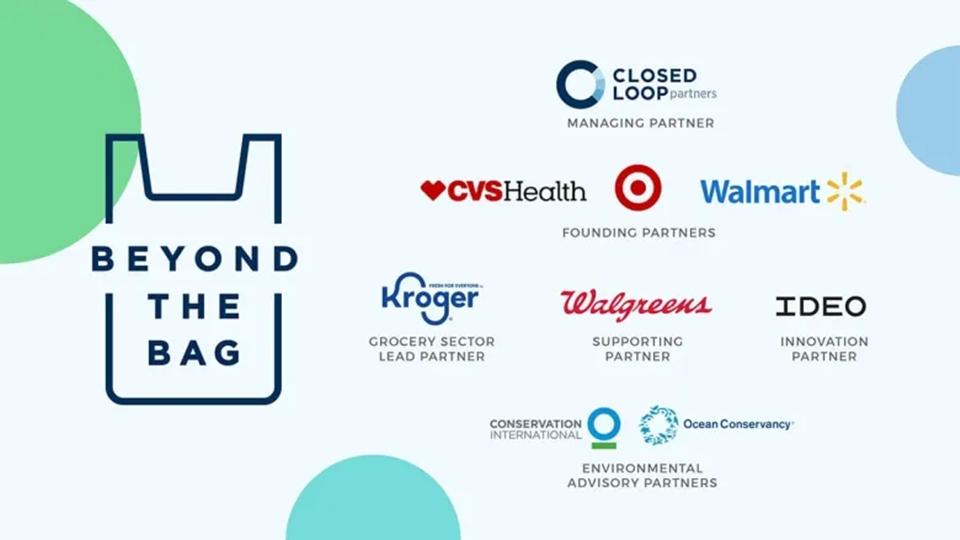 소매용 봉지 재발명 컨소시엄에 참여한 기업들의 로고 이미지.