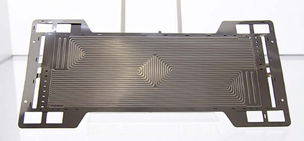 2016년 북미국제모터쇼(NAIAS) 기술전시회 포스코 부스에 전시된 Poss470FC 연료전지 분리판