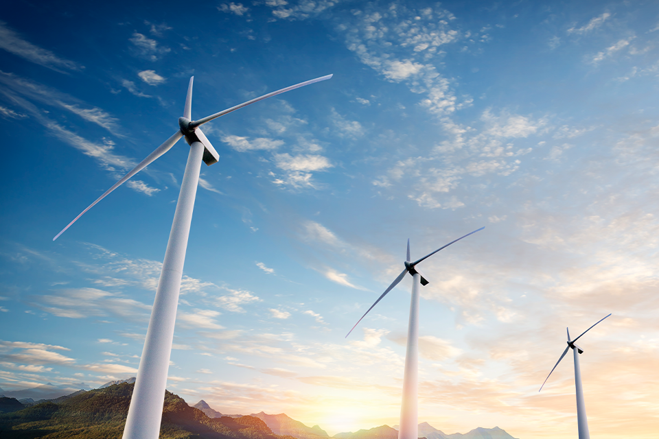 풍력발전기 이미지.